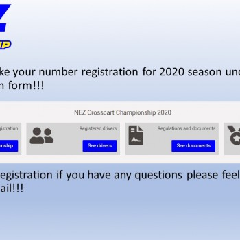 REGISTRATION AND NUMBER RESERVATION FOR 2020!!!